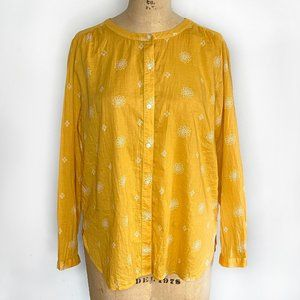 AT Loft Outlet Floral Golden Yellow Blouse / MP